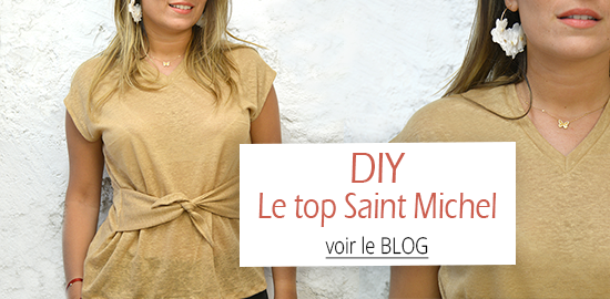 Le blog des Coupons - DIY le top Saint Michel en maille de lin